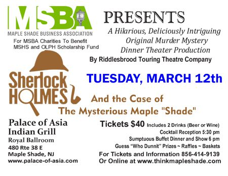 "MSBA Presents Sherlock Holmes and the Case of The Mysterious Maple ""Shade"""