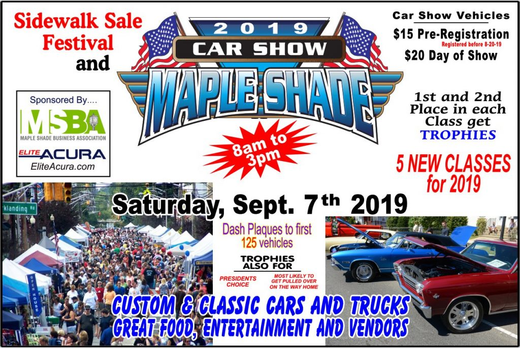 Maple Shade Car Show 2019